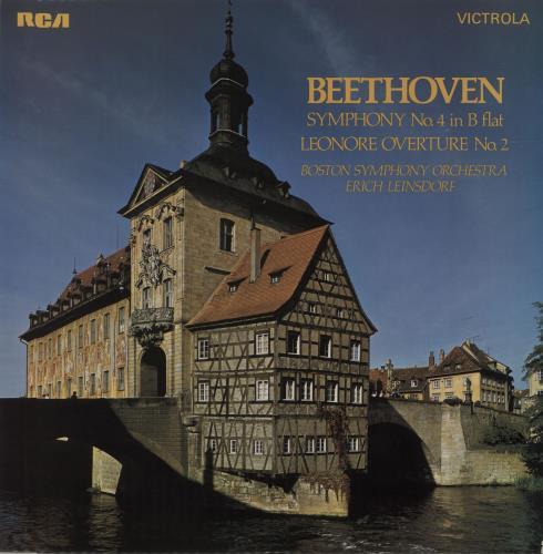 Ludwig Van Beethoven Sympony No. 4 In B Flat Op. 60 / Leonore Overture No. 2 Op. 72 vinyl LP album (LP record) UK LVBLPSY680345