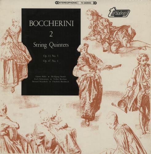Luigi Boccherini 2 String Quintets vinyl LP album (LP record) UK B9CLPST615714