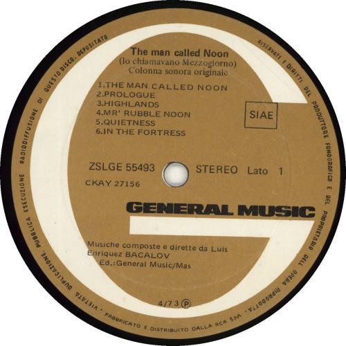 Luis Bacalov Lo Chiamavano Mezzogiorno/ The Man Called Noon vinyl LP album (LP record) Italian QVKLPLO692379