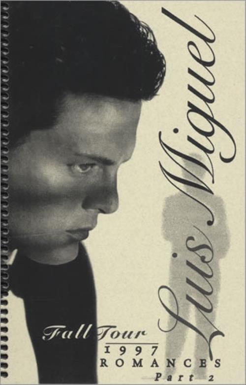 Luis Miguel Romances Tour '97 - Part 2 Itinerary US LUIITRO427366