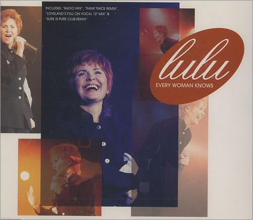 "Lulu Every Woman Knows CD single (CD5 / 5"") UK LULC5EV84429"