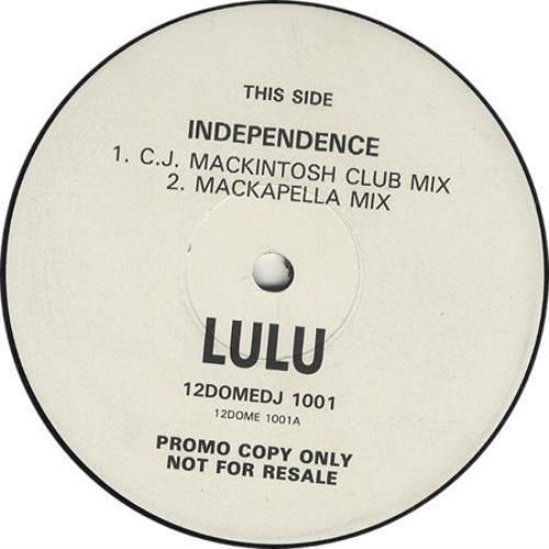 "Lulu Independence 12"" vinyl single (12 inch record / Maxi-single) UK LUL12IN122640"