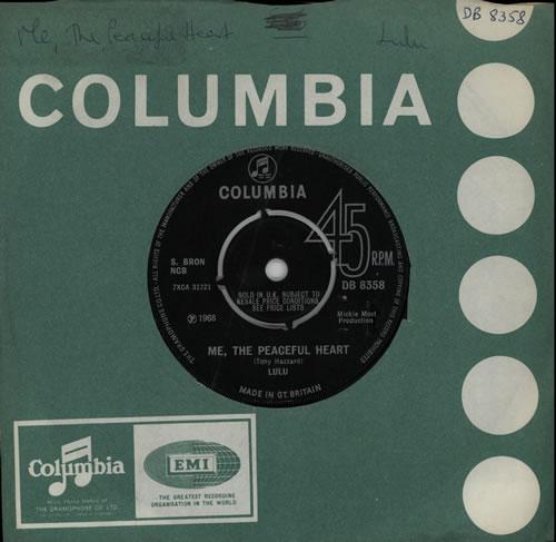 "Lulu Me, The Peaceful Heart - 4pr 7"" vinyl single (7 inch record) UK LUL07ME569663"