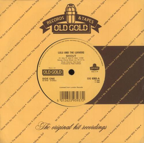 "Lulu Shout 7"" vinyl single (7 inch record) UK LUL07SH742635"