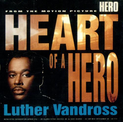 "Luther Vandross Heart Of A Hero CD single (CD5 / 5"") US LUTC5HE499964"