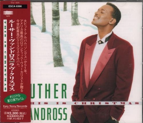 luther vandross this is christmas cd album cdlp japanese lutcdth668023 - Luther Vandross Christmas
