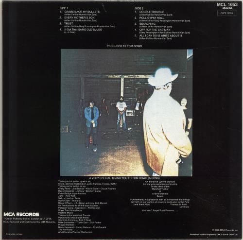 Lynyrd Skynyrd Gimme Back My Bullets vinyl LP album (LP record) UK LRDLPGI694266