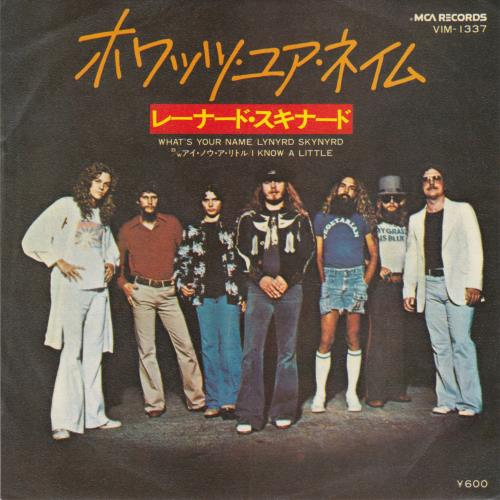 """Lynyrd Skynyrd What's Your Name 7"""" vinyl single (7 inch record) Japanese LRD07WH354682"""