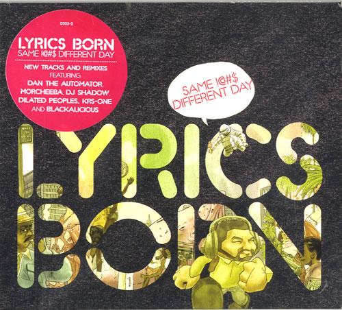 Lyrics Born Same !@#$ Different Day 2-disc CD/DVD set UK LYB2DSA322263