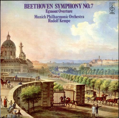 Ludwig Van Beethoven Symphony No. 7 & Egmont Overture vinyl LP album (LP record) UK LVBLPSY537206