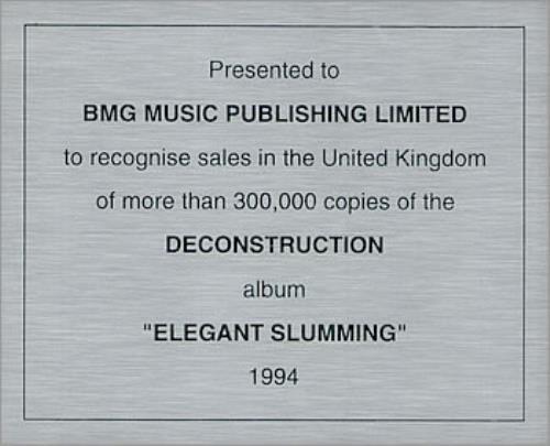 M-People Elegant Slumming in-house award disc UK MPEAIEL489606