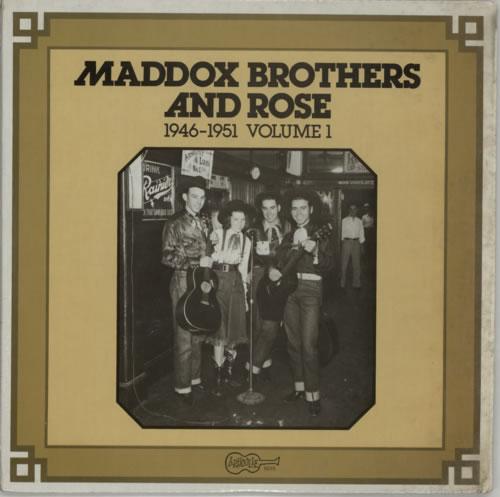 Maddox Bros Maddox Brothers & Rose: 1946 - 1951 Volume 1 vinyl LP album (LP record) US N2ELPMA617590