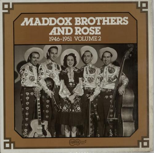 Maddox Bros Maddox Brothers & Rose: 1946 - 1951 Volume 2 vinyl LP album (LP record) US N2ELPMA617589