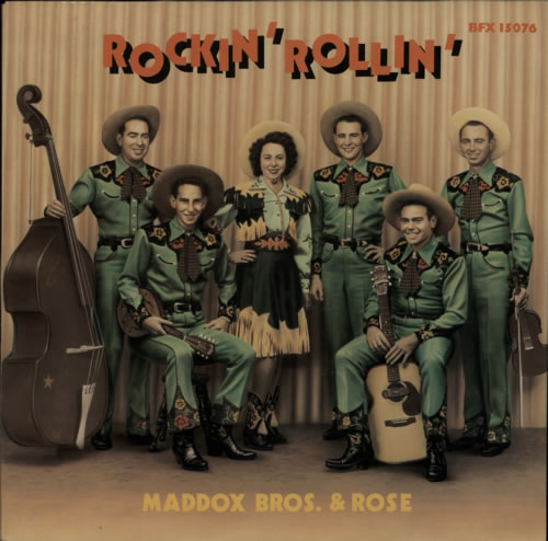 Maddox Bros Rockin' Rollin' vinyl LP album (LP record) German N2ELPRO617512