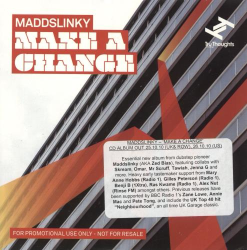 Maddslinky Make A Change CD album (CDLP) UK 0CGCDMA732560