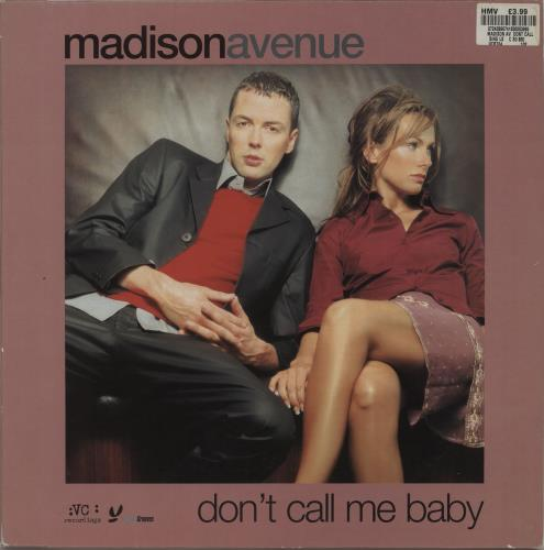 "Madison Avenue Don't Call Me Baby 12"" vinyl single (12 inch record / Maxi-single) UK MVI12DO674094"