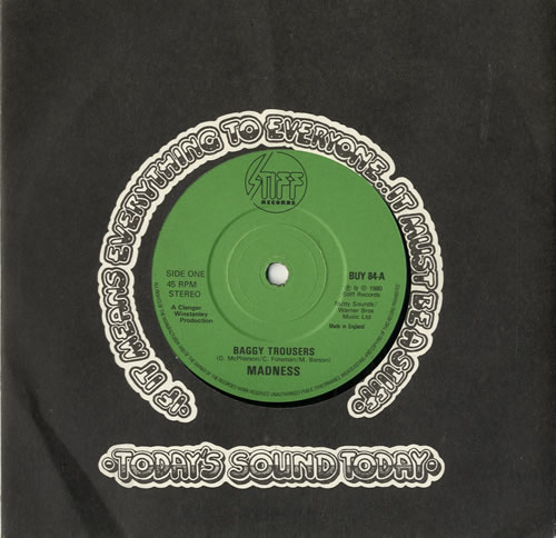 """Madness Baggy Trousers 7"""" vinyl single (7 inch record) UK MDN07BA599826"""