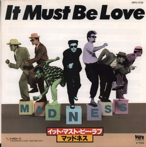 """Madness It Must Be Love 7"""" vinyl single (7 inch record) Japanese MDN07IT157485"""