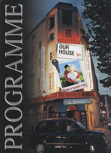 Madness Our House The Musical tour programme UK MDNTROU341230