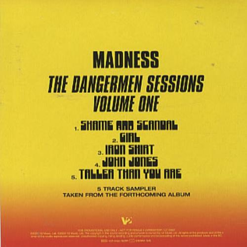 """Madness The Dangermen Sessions Volume One - sampler CD single (CD5 / 5"""") UK MDNC5TH332697"""