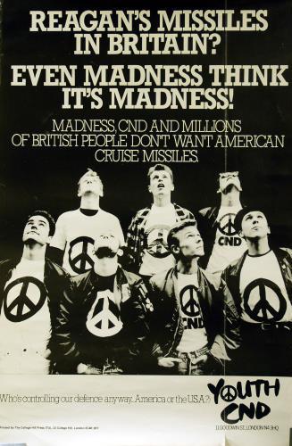Madness Youth CND poster UK MDNPOYO644783