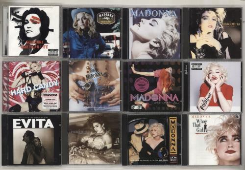 Madonna 1983-2017 Albums - 26 CD album (CDLP) UK MADCDAL723106