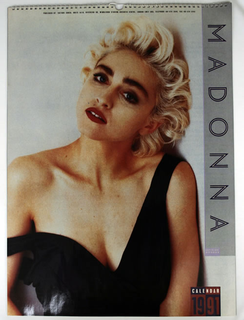 Madonna 1991 Calendar Large Uk Calendar 560597 Calendar