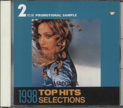 Madonna 1998 Top Hits Selections - Warner Music Japan Sampler CD album (CDLP) Japanese MADCDTO731903