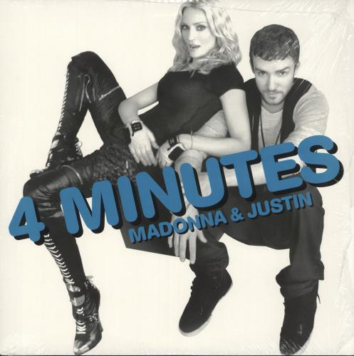 "Madonna 4 Minutes - Opened shrink 12"" vinyl single (12 inch record / Maxi-single) German MAD12MI721391"