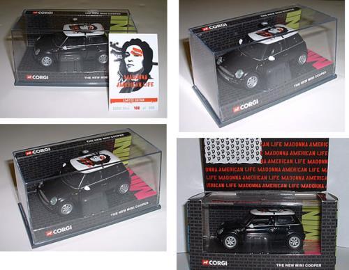 Madonna American Life - Black Mini Cooper - Launch Party Edition memorabilia UK MADMMAM246165