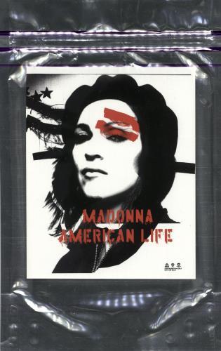 Madonna American Life Promotional Set memorabilia US MADMMAM514065