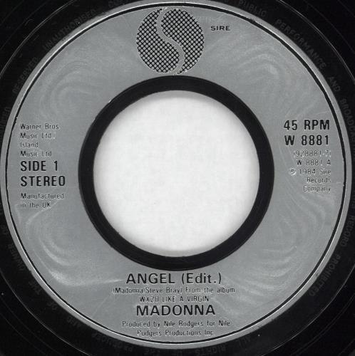 "Madonna Angel - Jukebox 7"" vinyl single (7 inch record) UK MAD07AN559606"