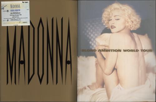 Madonna Blond Ambition World Tour + Ticket Stub tour programme UK MADTRBL459341