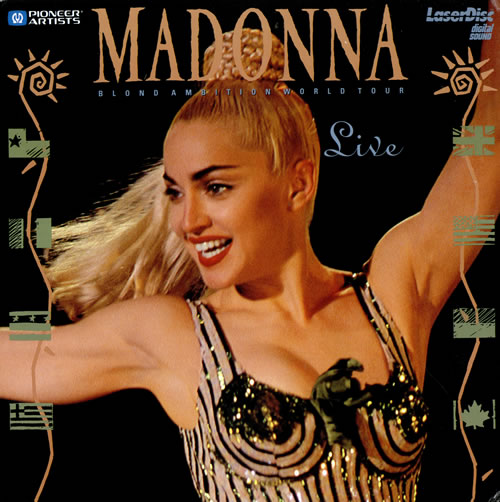 Madonna Blond Ambition World Tour Live - Madonna laserdisc / lazerdisc US MADLZBL11417