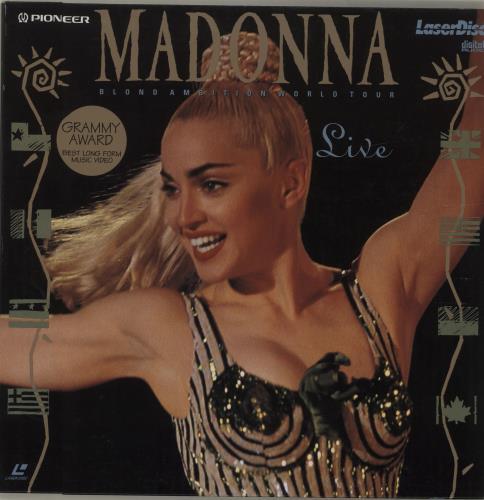 Madonna Blond Ambition World Tour Live laserdisc / lazerdisc UK MADLZBL679411