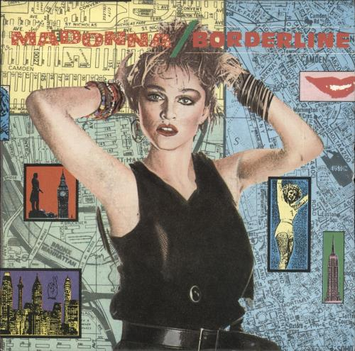 "Madonna Borderline - 1986 issue + Big logo 7"" vinyl single (7 inch record) UK MAD07BO721151"