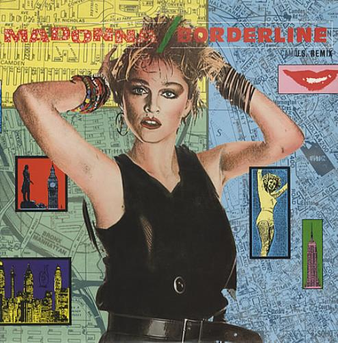 "Madonna Borderline 12"" vinyl single (12 inch record / Maxi-single) German MAD12BO333062"