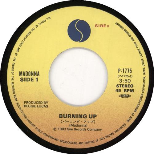 "Madonna Burning Up 7"" vinyl single (7 inch record) Japanese MAD07BU07266"