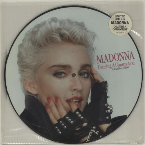 "Madonna Causing A Commotion - Hype Stickered 12"" vinyl picture disc 12inch picture disc record UK MAD2PCA01780"