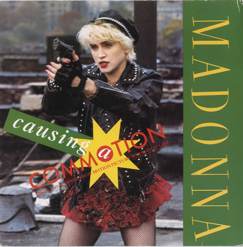 "Madonna Causing A Commotion - Silver Injection - Card Sleeve 7"" vinyl single (7 inch record) UK MAD07CA565657"