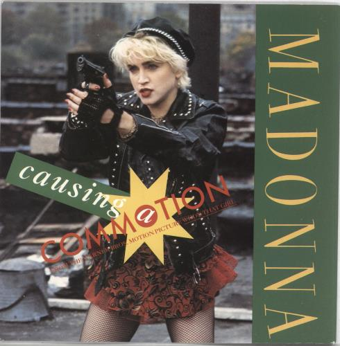 """Madonna Causing A Commotion - Solid - Card Sleeve 7"""" vinyl single (7 inch record) UK MAD07CA559589"""