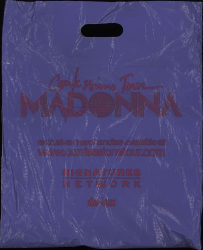Madonna Confessions Tour Programme + Carrier bag tour programme UK MADTRCO762629