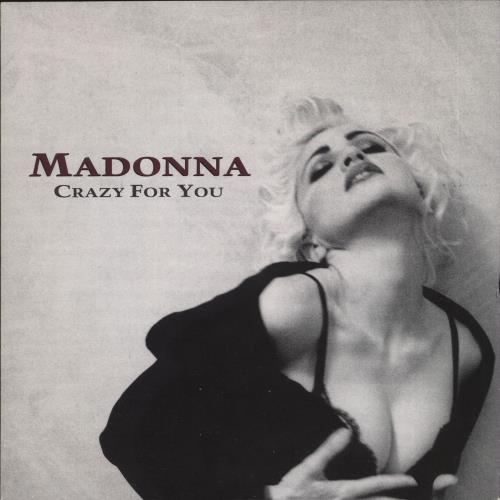 """Madonna Crazy For You - Yellow label & Card Sleeve 7"""" vinyl single (7 inch record) UK MAD07CR31791"""
