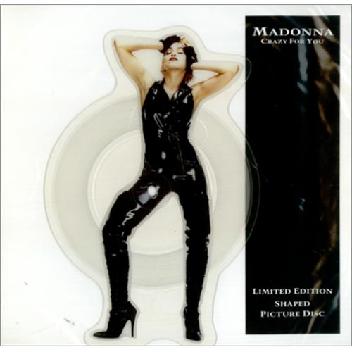 Madonna Crazy For You shaped picture disc (picture disc vinyl record) UK MADSHCR424780