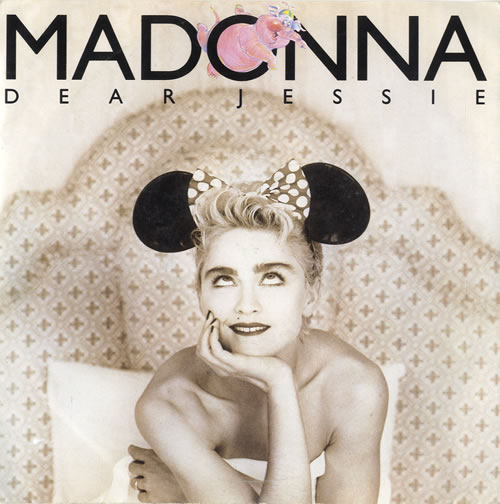 "Madonna Dear Jessie - Yellow Labels & Paper Sleeve 7"" vinyl single (7 inch record) UK MAD07DE565706"