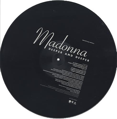 "Madonna Deeper And Deeper 12"" vinyl picture disc 12inch picture disc record UK MAD2PDE11323"