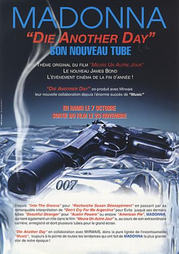 Madonna Die Another Day handbill French MADHBDI402249