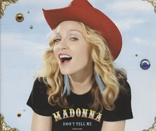 "Madonna Don't Tell Me CD single (CD5 / 5"") Australian MADC5DO169725"