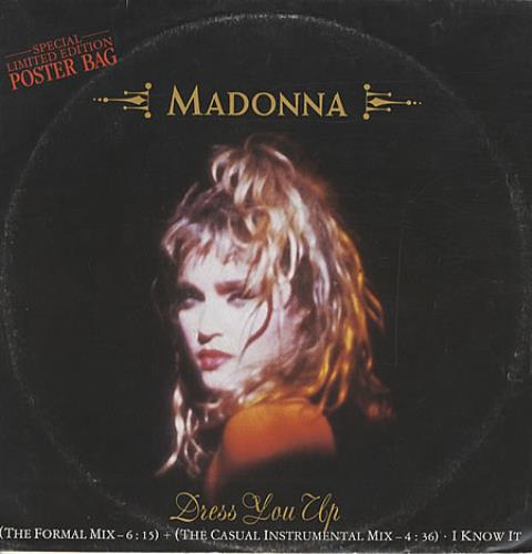 "Madonna Dress You Up - Poster Sleeve - EX 12"" vinyl single (12 inch record / Maxi-single) UK MAD12DR342484"