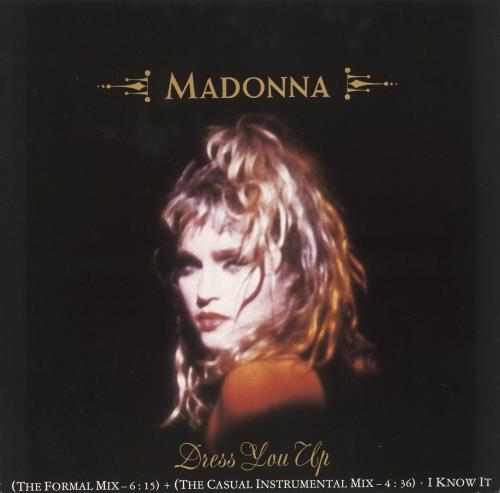 "Madonna Dress You Up 12"" vinyl single (12 inch record / Maxi-single) UK MAD12DR721449"